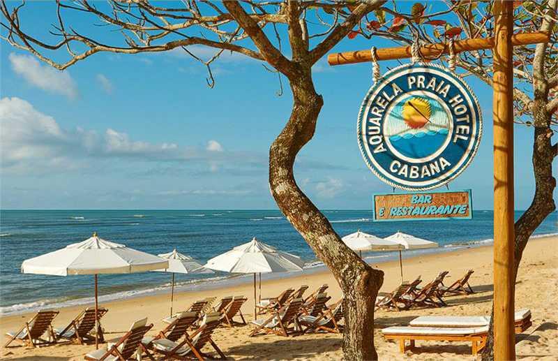 Hotel beira mar na Praia do Apaga Fogo em Arraial  D'Ajuda.